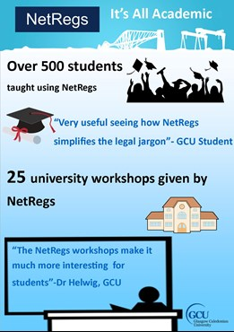 Glasgow Caledonian NetRegs Academic Infographic