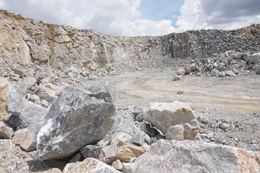 tailings from mining and quarrying