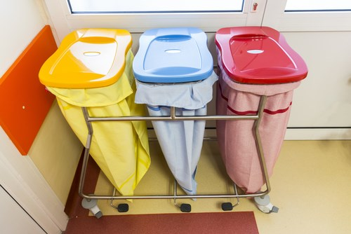 Recycling your healthcare business waste. Separate bins
