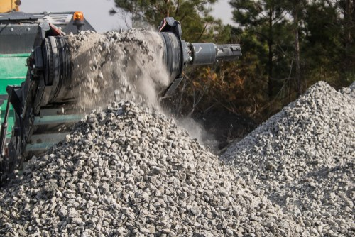 Recycling concrete crusher